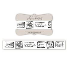 Лента с изображением почтовых марок, 2 см, 1 м
