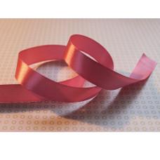 Атласная лента розового цвета, длина 90 см, ширина 20 мм