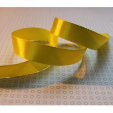 Атласная лента желтого цвета, длина 90 см, ширина 20 мм