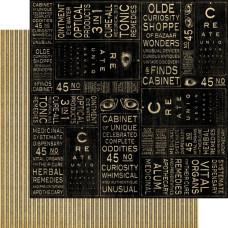 Двусторонняя бумага Optical Oddities, Olde Curiosity Shoppe 30x30 см от Graphic 45