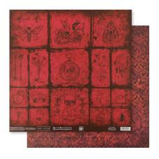 Бумага для скрапбукинга, Старый замок, 30,5×32 см, 180 г/м, АртУзор