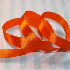 Атласная лента оранжевого цвета, длина 90 см, ширина 12 мм
