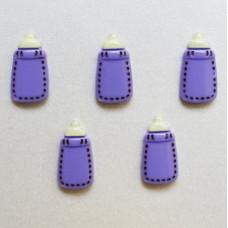Кабошон фиолетового цвета Детская Бутылочка, 12x22 мм, 1 шт