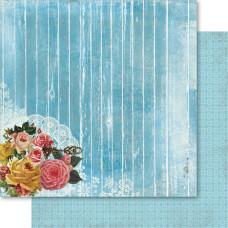 Бумага для скрапбукинга Blue Forever Yours 30х30 см от Ruby Rock-It