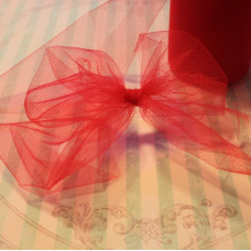Декоративная сетка (фатин) бордового цвета от Falk, ширина 14 см, длина 90 см