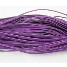 Замшевый шнур фиолетового цвета, ширина 2,7 мм, длина 100 см
