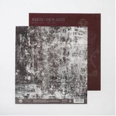 Бумага для скрапбукинга, Чертеж,  20×21,5 см, 180 г/м, АртУзор
