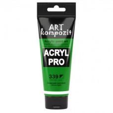 Краска художественная, 75 мл Туба, 339 зеленый светлый, Art Kompozit