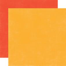Двусторонний лист бумаги Orange/Red Distressed 30x30 cм от Echo Park