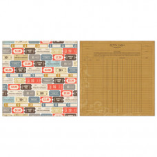Двусторонний лист бумаги Admit One 30x30 cм от Echo Park