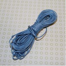 Вощеный шнур голубого цвета, 5 м