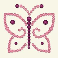 Бабочка из полужемчужин розового цвета Opaline от BasicGrey