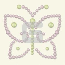 Бабочка из полужемчужин светло-сиреневого цвета Opaline от BasicGrey
