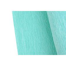 Бумага-креп, рулон, 2,5 м, 0,5 м, 70 г/м2, голубой
