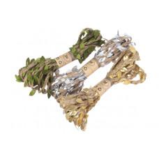 Бечевка с листочками, Cеребро, 10мм х 3м