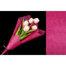 Бумага флизелиновая, сизофлор, розовая, 70х50см