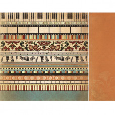 Двусторонняя бумага Opera 30х30 см от Kaisercraft
