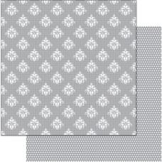 Двусторонняя перламутровая бумага Pattern Grid/Silver 30х30 см от Ruby Rock-it