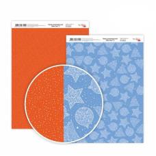 Бумага дизайнерская двусторонняя New Year 2, 21х29,7 см, 250 г / м2, ROSA TALENT