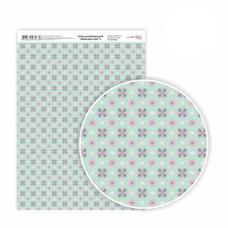 Бумага дизайнерская односторонняя Лавандовые мечты» 6, 21х29,7 см, глянцевый, 250 г / м2, ROSA TALENT