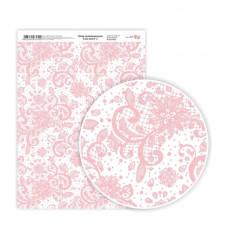 Бумага дизайнерская односторонняя Love story 2, 21х29,7 см, глянцевый, 250 г / м2, ROSA TALENT