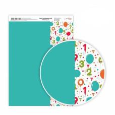 Бумага дизайнерская односторонняя Birthday 3, 21х29,7 см, 250 г / м2, ROSA TALENT