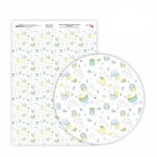 Бумага дизайнерская односторонняя Sweet Boy 7, 21х29,7 см, глянцевый, 250 г / м2, ROSA TALENT