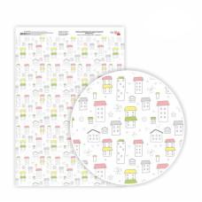 Бумага дизайнерская односторонняя Sweet Girl 1, 21х29,7 см, глянцевый, 250 г / м2, ROSA TALENT