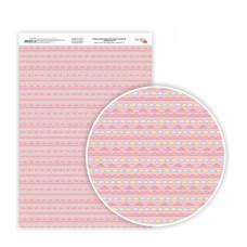 Бумага дизайнерская односторонняя Sweet Girl 6, 21х29,7 см, глянцевый, 250 г / м2, ROSA TALENT