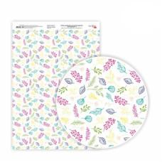 Бумага дизайнерская односторонняя Floral garden 2, 21х29,7 см, глянцевый, 250 г / м2, ROSA TALENT