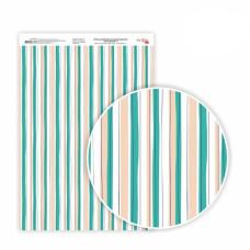 Бумага дизайнерская односторонняя Floral garden 7, 21х29,7 см, глянцевый, 250 г / м2, ROSA TALENT