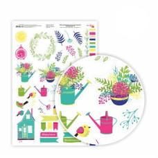 Бумага дизайнерская односторонняя Floral garden 9, 21х29,7 см, глянцевый, 250 г / м2, ROSA TALENT