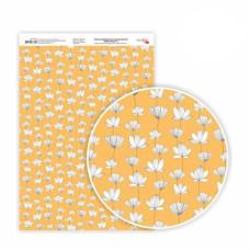 Бумага дизайнерская односторонняя Magic flowers 1, 21х29,7 см, глянцевый, 250 г / м2, ROSA TALENT