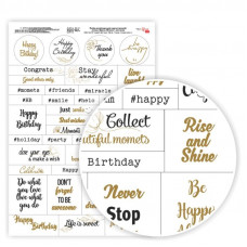 Бумага дизайнерская односторонняя Слова, Фразы, Поздравление анг. яз, 21х29,7см, 250 г / м2, Rosa Talent