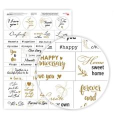 Бумага дизайнерская односторонняя Слова, Фразы, Любовь, анг яз, 21х29,7см, 250 г/м2, Rosa Talent