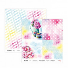 Двусторонняя бумага «Floral Poem» 185316030, 30*30 см от Rosa Talent
