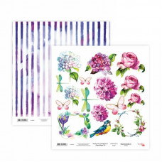 Двусторонняя бумага «Floral Poem» 19, 30*30 см от Rosa Talent