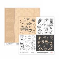 Двусторонняя бумага «Recipe book» 6, 30*30 см от Rosa Talent