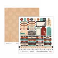 Двусторонняя бумага «Recipe book» 9, 30*30 см от Rosa Talent