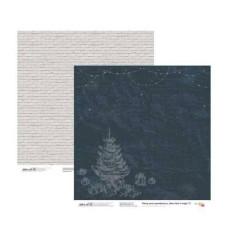 Бумага для скрапбукинга New Year's magic 2, двосторонняя, 30,48х30,48 см, 200г/м2, Rosa Talent