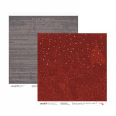Бумага для скрапбукинга New Year's magic 3, двосторонняя, 30,48х30,48 см, 200г/м2, Rosa Talent