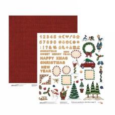 Бумага для скрапбукинга New Year's magic 9, двосторонняя, 30,48х30,48 см, 200г/м2, Rosa Talent