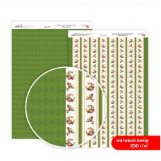 Бумага дизайнерская двусторонняя матовая, Магия роз 2, 21х29,7 см, 200 г/м2, Rosa Talent