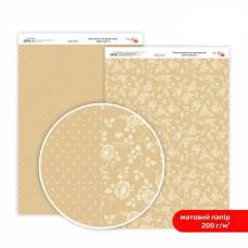 Бумага дизайнерская двусторонняя матовая, Магия роз 6, 21х29,7 см, 200 г/м2, Rosa Talent