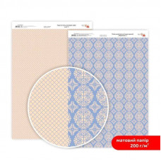 Бумага дизайнерская двусторонняя матовая, Кружево 2, 21х29,7 см, 200 г/м2, Rosa Talent