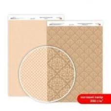 Бумага дизайнерская двусторонняя матовая, Кружево 3, 21х29,7 см, 200 г/м2, Rosa Talent