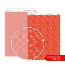 Бумага дизайнерская двусторонняя матовая, Нежность цветов 1, 21х29,7 см, 200 г/м2, Rosa Talent