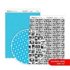 Бумага дизайнерская двусторонняя матовая, Be in color 6, 21х29,7см, 200 г / м2, Rosa Talent