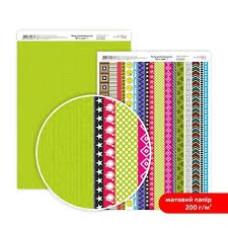 Бумага дизайнерская двусторонняя матовая, Be in color 7, 21х29,7 см, 200 г/м2, Rosa Talent