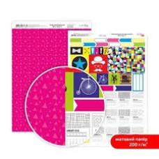 Бумага дизайнерская двусторонняя матовая, Be in color 8, 21х29,7 см, 200 г/м2, Rosa Talent